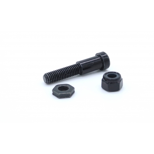 Lower handlebar pivot pin, nut & lock nuts
