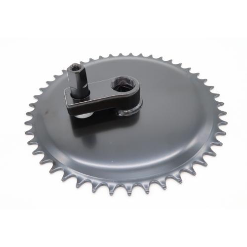 Manivelle avec roue à chaîne droite